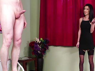 Intense action for slay rub elbows with brunette woman in a black dress