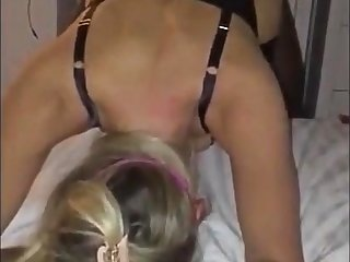 Blindfolded Cuckold Blonde GF Mutual With BCC