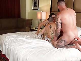Lucky Scrounger Fucks Hot PAWG Lesbians in Threesome
