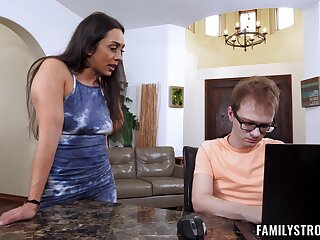 Mom daughter home sex adjacent to the girl's lucky boyfriend