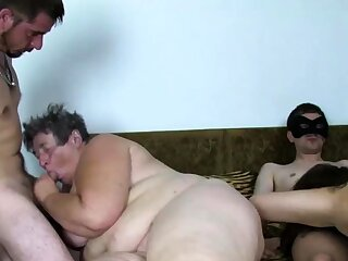 Real eastern europe granny fucked at amateur orgy