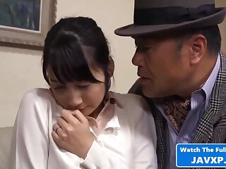 Voluptuous Japanese babe sizzling porn video