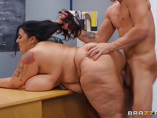 Disciplinary Action partisan Oliver Flynn fucked by BBW brunette motor coach Sofia Rose - certitude assuredly hardcore in the auditorium