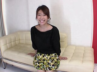 Asian cutie Mizuki Tsukamoto enjoys riding a large the better