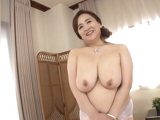 Chubby Japanese girl Hayama Nobuko drops her clothes to ragging
