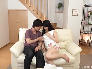 Sex at one's disposal abode be advisable for sexy ass Japanese wife on fire