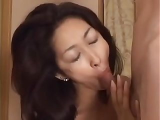 Asian Japanese Mom gets hot Fuck and Cum