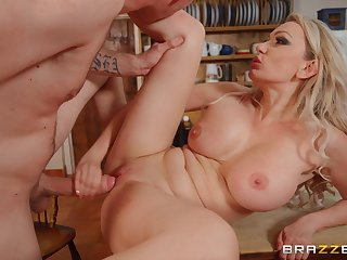 Blonde step mom goes slutty in a serious hard shag on cam