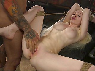Deep pussy bondage sex for someone's skin obedient blonde whore