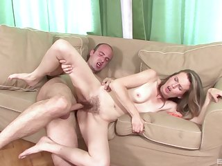 Skinny broad nigh hairy cunt, home porn on camera