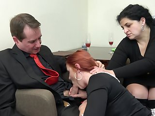 Redhead maid Anna Jelinkova fucked go forward the house become man