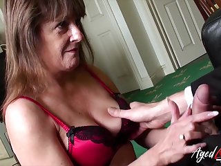 Old widow Pandora gets intimate concerning three young man living nextdoor