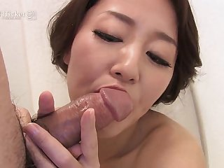41Ticket - Japanese Mature Masturbates plus Sucks Cock nearly Shower (Uncensored JAV)