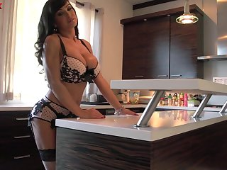 Horny voluptuous huge breasted MILF Lisa Ann gonna excursion fat flannel