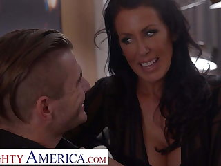 Naughty America Reagan Foxx roleplays as naughty step jocular mater
