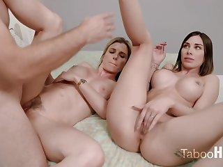 Farcical mom and say no to sluty step- daughter-in-law had a 3some upon 1 of the fresh neighbors