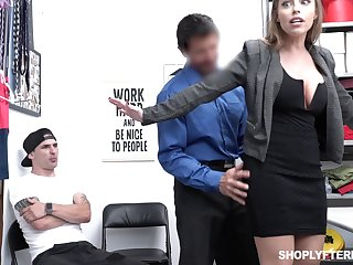 Office MILFie slut with careful curves Britney Amber works primarily cock in the office
