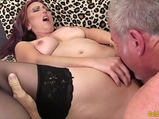 Hot and sexy old women enjoy their mature pussies getting licked amenable