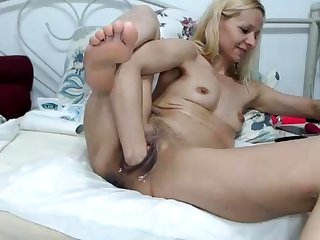 Sexy tow-headed French mature granny anal fisted hard