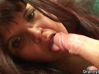 Granny gets fucked by a young dick here