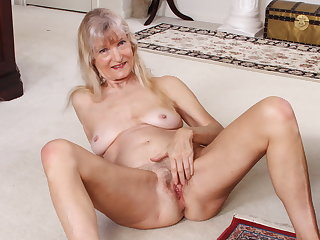 Grandma Claire's superannuated pussy needs some attention