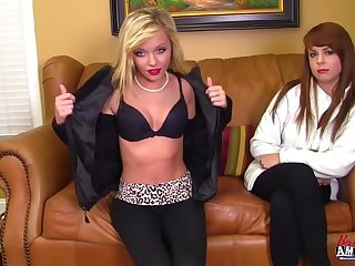 Blayre And Harper Audition - Lesbian Sex