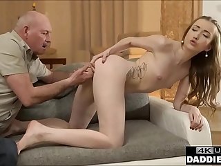 Sneaky Old Dad Fucks Sons Gorgeous Teen Girlfriend