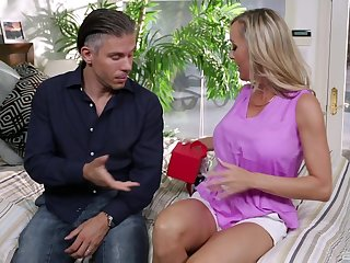 Adorable mature fit together Cherie Deville moans during passionate sex