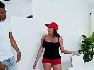 Luscious MILF Julianna Vega samples a young black man's throbbing cock
