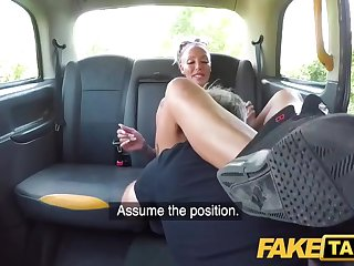 Tattooed Milf With Big Breast Rides Cab Driver with Houston
