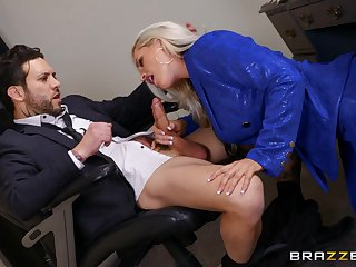 Deep in their way pussy is how this thick secretary loves pleasing the big wheel