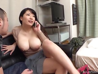 Chubby Asian girlfriend gets undressed and fucked by the brush BF