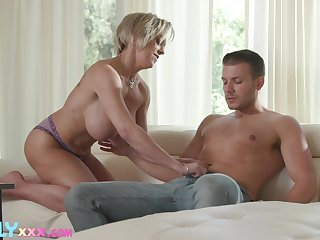 Frying MILF Dee Williams shoots and scores with a younger man